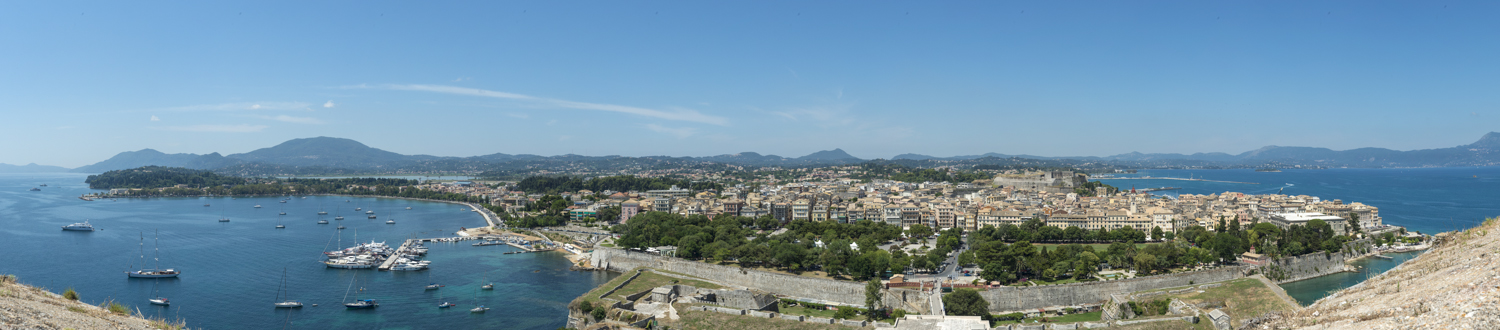 Kerkyra from the Old Fort